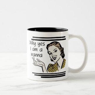 Retro Nanna T-shirts and Gifts Two-Tone Coffee Mug
