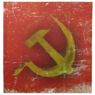 Retro Napkin with Dirty Old Soviet Union Flag