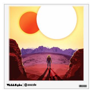 Retro NASA Travel Poster - Relax on Kepler 16b Wall Graphic