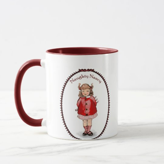 Retro Naughty Nancy Mug