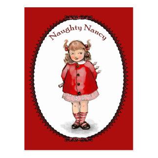 Retro Naughty Nancy Postcard