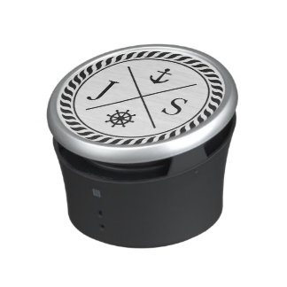 Retro Nautical Anchor Monogrammed Bluetooth Speaker
