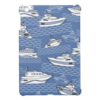 retro nautical vintage boats  ipad mini case blue