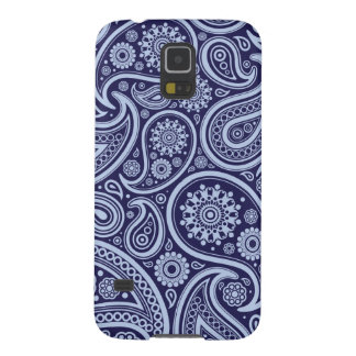 Retro Navy Blue Paisley Pattern Case For Galaxy S5