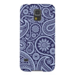 Retro Navy Blue Paisley Pattern Galaxy S5 Cover