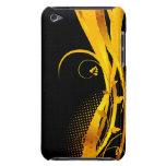 Retro negro y amarillo barely there iPod funda