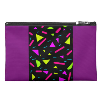 Retro Neon 80's Party Travel Accessory Bag