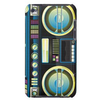 retro neon blue  boom box ghetto blaster boombox iPod touch cases