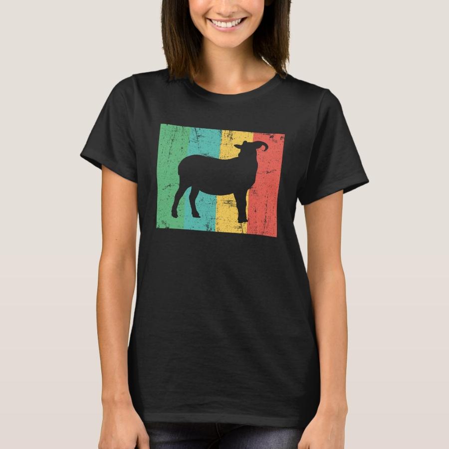 Retro Neon Distressed Throwback Goat Design T-Shirt - Best Selling Long-Sleeve Street Fashion Shirt Designs