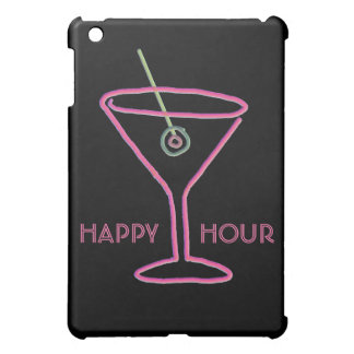 Retro Neon Martini Happy Hour iPad Mini Case