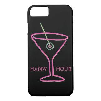 Retro Neon Martini Happy Hour iPhone 7 Case