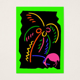 Retro Neon Palm Flamingo Travel Souvenir Gift Tags