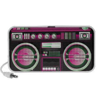retro neon pink boom box ghetto blaster boombox notebook speaker