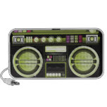 retro neon yellow boom box ghetto blaster boombox speaker system