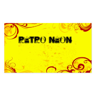 Retro Neon Yellow Double-Sided Standard Business Cards (Pack Of 100)