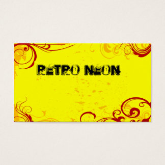 Retro Neon Yellow Business Card