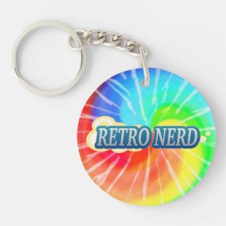 Retro Nerd Double-Sided Round Acrylic Keychain