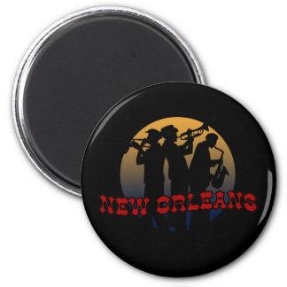 Retro New Orleans Jazz 2 Inch Round Magnet