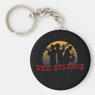Retro New Orleans Jazz Basic Round Button Keychain