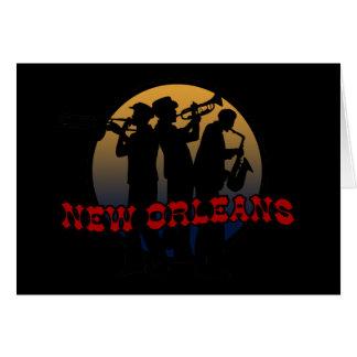 Retro New Orleans Jazz Card