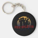 Retro New Orleans Jazz Keychain