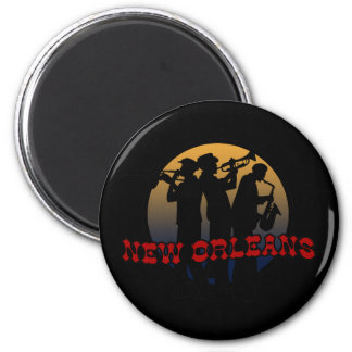 Retro New Orleans Jazz Magnet