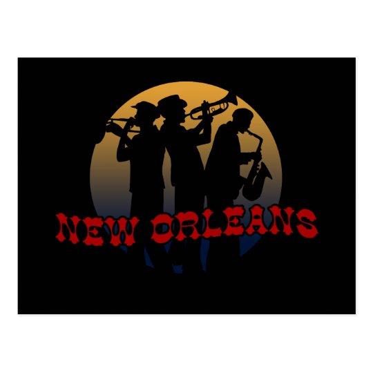 Retro New Orleans Jazz Postcard