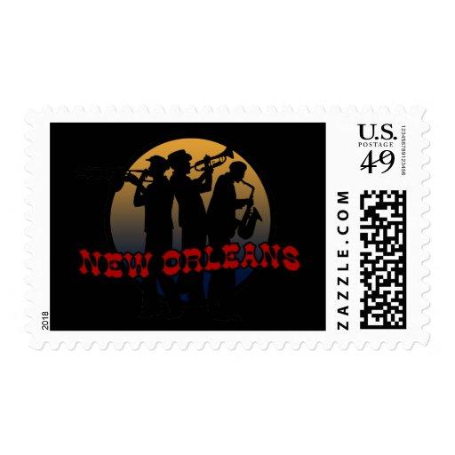 Retro New Orleans Jazz Stamps