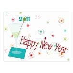 Retro New Year Postcard
