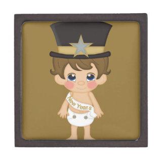 Retro New Years Baby New Year Premium Jewelry Boxes