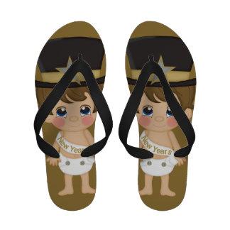 Retro New Years Baby New Year Sandals