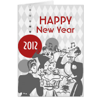 Retro New Year's Card