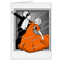 Retro New Year's Eve Couple, Card