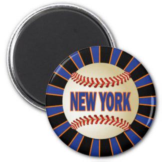 RETRO NEW YORK BASEBALL MAGNET