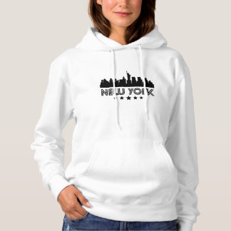 Retro New York City Skyline Hoodie