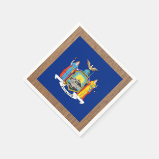 Retro New York Flag Standard Cocktail Napkin