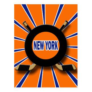 RETRO NEW YORK HOCKEY POSTCARD