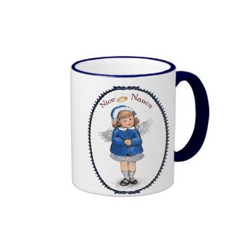 Retro Nice Nancy Ringer Mug