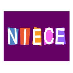 Postcard with Retro Niece design