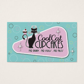 Retro - No LInes on Cupcake Business Card