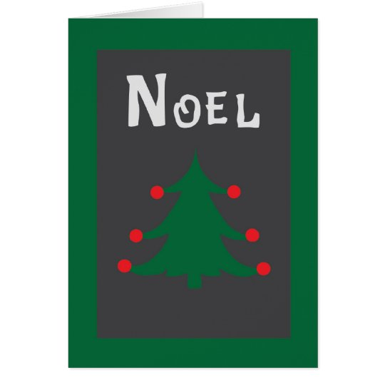 Retro Noel Holiday Greeting Card