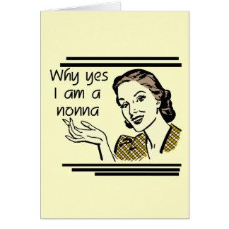 Retro Nonna Tshirts and Gifts Greeting Card