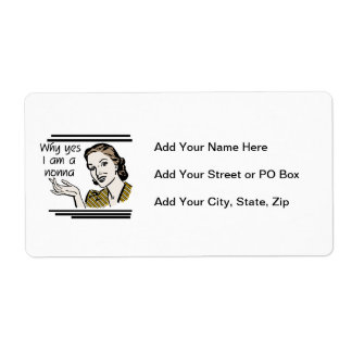 Retro Nonna Tshirts and Gifts Shipping Label