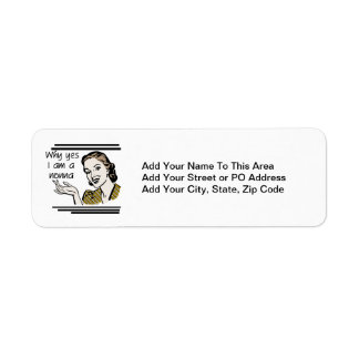 Retro Nonna Tshirts and Gifts Custom Return Address Label