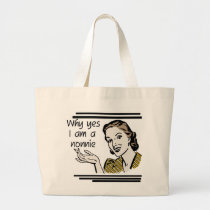 Retro Nonnie T-shirts and GIfts Large Tote Bag