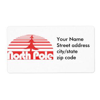 Retro North Pole Label