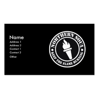 Retro Northern Soul style design Double-Sided Standard Business Cards (Pack Of 100)
