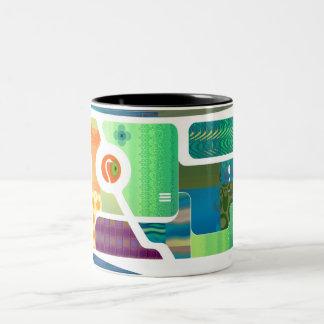 Retro Nouveau Background Mug 1