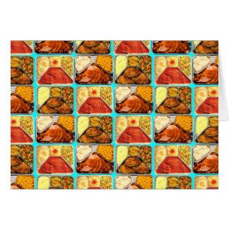 Retro Novelty TV Dinners Trays Card