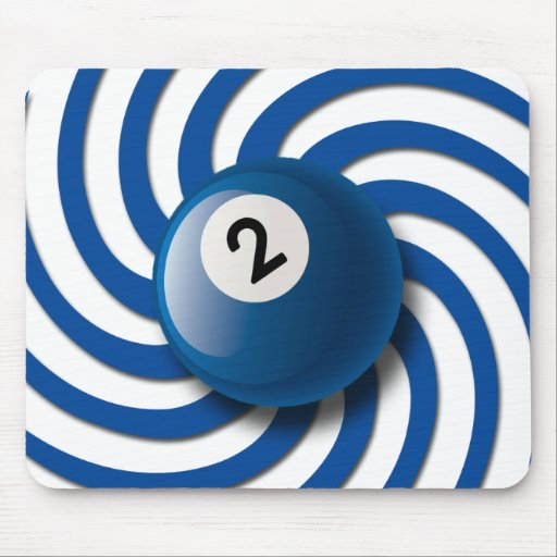 RETRO NUMBER 2 BILLIARDS BALL MOUSEPADS